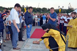 На набережной Ростова-на-Дону совершен чин закладки камня в основание тетрапилона «Южные врата России»