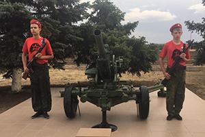 Открытие памятника артиллеристам в Матвеево-Курганском районе