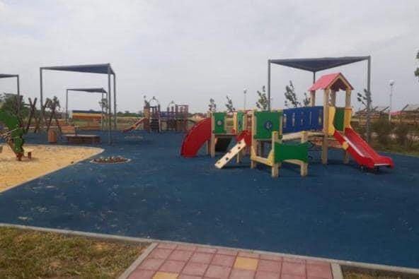 Работы по благоустройству нового парка в хуторе Недвиговка Мясниковского района