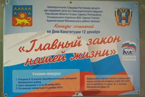 Конкурс сочинений ко дню Конституции РФ