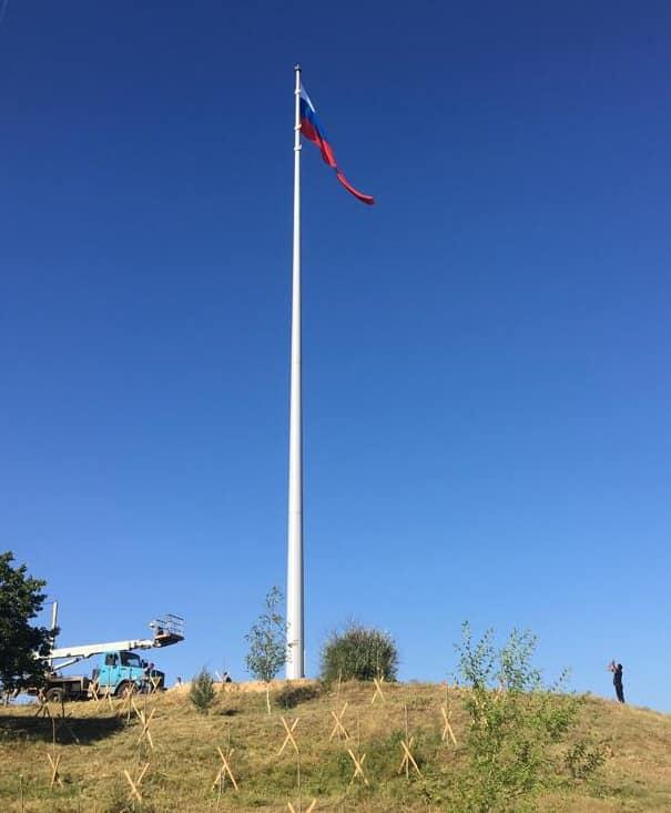 Поднятие флагштока в Аксайском районе